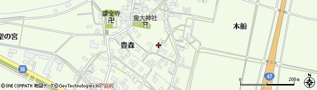 山形県酒田市新堀前岡108周辺の地図