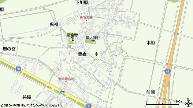 山形県酒田市新堀前岡97周辺の地図