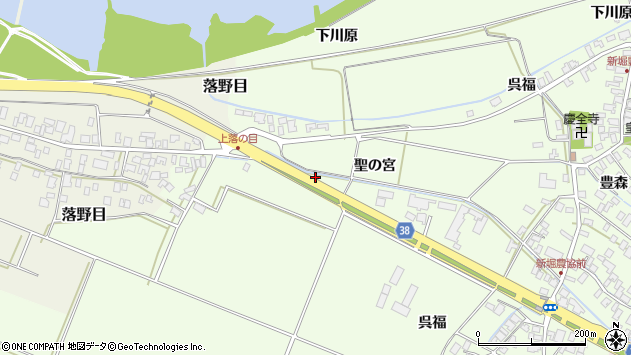 山形県酒田市新堀聖の宮41周辺の地図