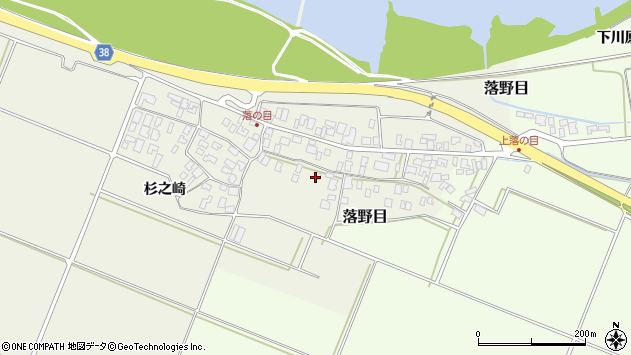 山形県酒田市落野目十寸穂48周辺の地図