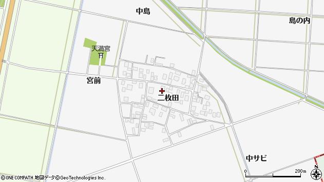 山形県酒田市丸沼二枚田57周辺の地図