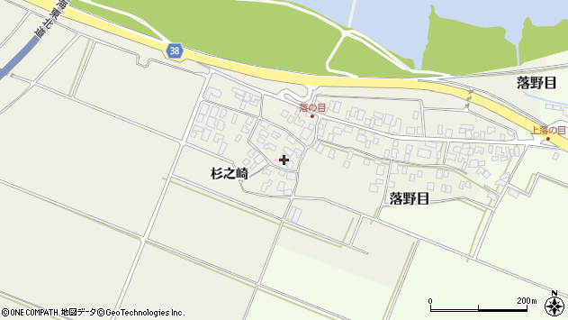 山形県酒田市落野目十寸穂12周辺の地図