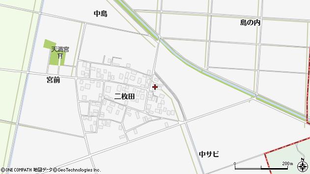 山形県酒田市丸沼二枚田70周辺の地図