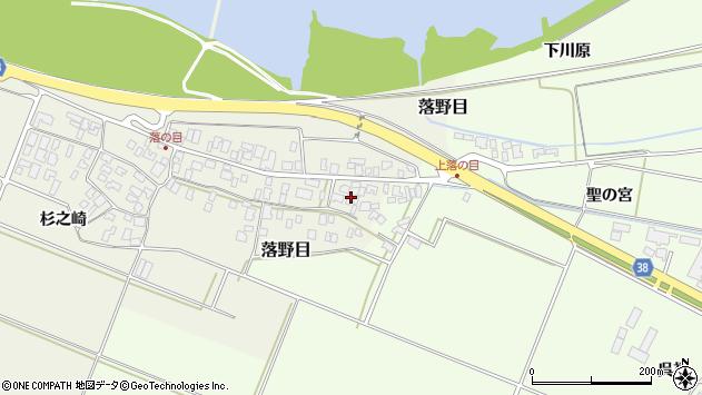 山形県酒田市落野目十寸穂92周辺の地図