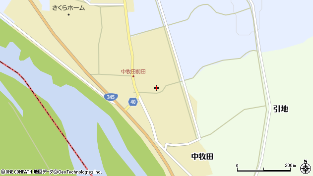 山形県酒田市中牧田前田135周辺の地図