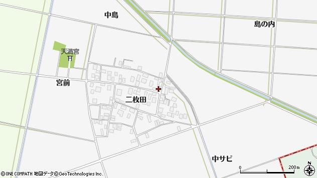 山形県酒田市丸沼二枚田75周辺の地図