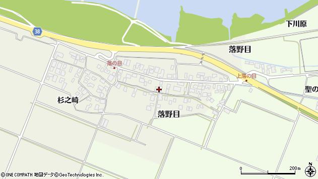 山形県酒田市落野目十寸穂63周辺の地図