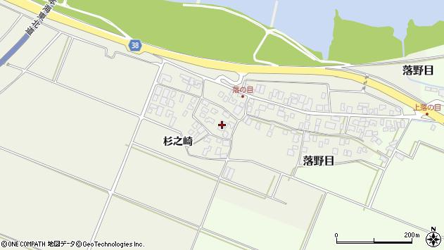 山形県酒田市落野目周辺の地図