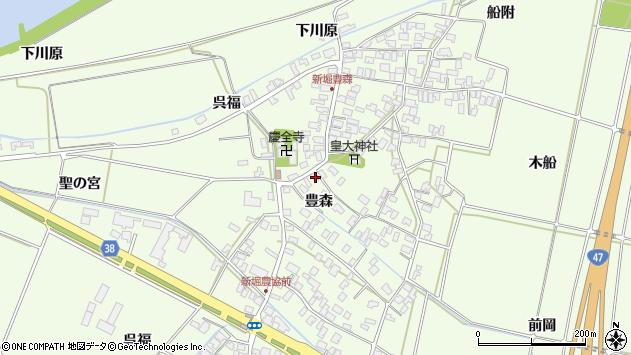 山形県酒田市新堀豊森68周辺の地図