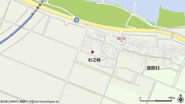 山形県酒田市落野目杉之崎170周辺の地図