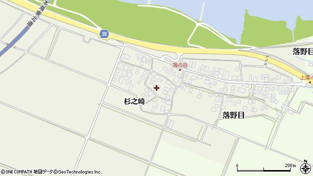 山形県酒田市落野目十寸穂14周辺の地図