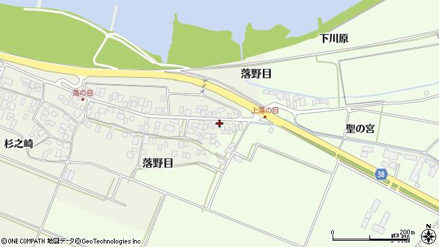 山形県酒田市落野目十寸穂118周辺の地図