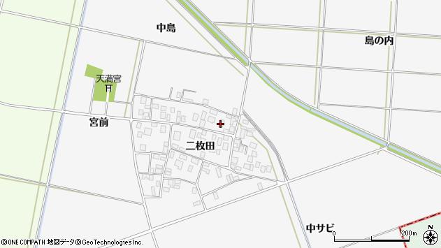 山形県酒田市丸沼二枚田76周辺の地図