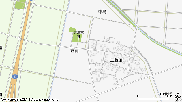 山形県酒田市丸沼二枚田91周辺の地図