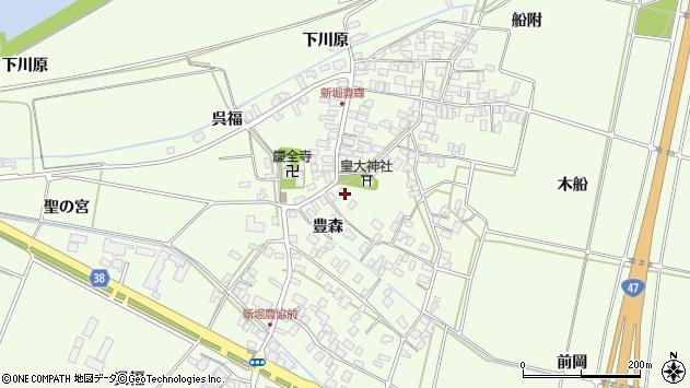 山形県酒田市新堀豊森66周辺の地図