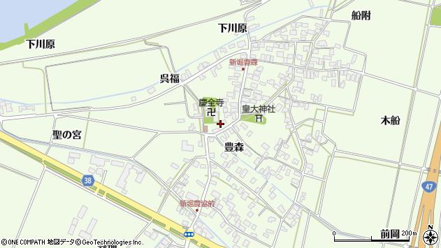 山形県酒田市新堀豊森70周辺の地図