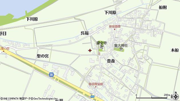 山形県酒田市新堀豊森33周辺の地図