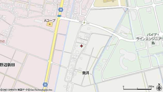 山形県酒田市広野奥井229周辺の地図