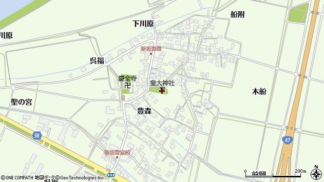 山形県酒田市新堀豊森117周辺の地図