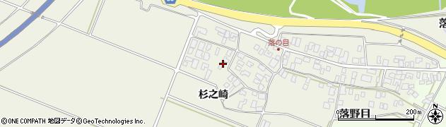 山形県酒田市落野目杉之崎41周辺の地図