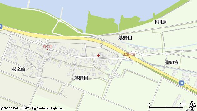 山形県酒田市落野目刈分58周辺の地図