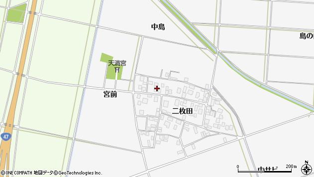 山形県酒田市丸沼二枚田86周辺の地図
