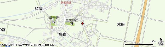 山形県酒田市新堀豊森123周辺の地図