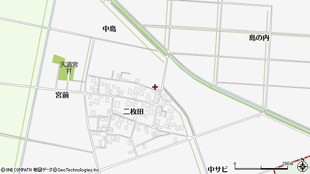 山形県酒田市丸沼中島16周辺の地図