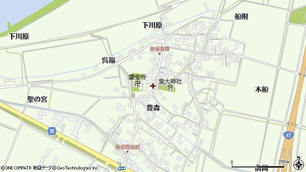 山形県酒田市新堀豊森72周辺の地図