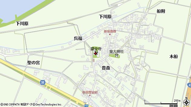 山形県酒田市新堀豊森38周辺の地図
