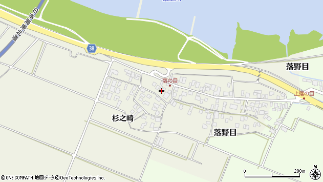 山形県酒田市落野目十寸穂29周辺の地図