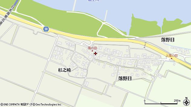 山形県酒田市落野目十寸穂34周辺の地図