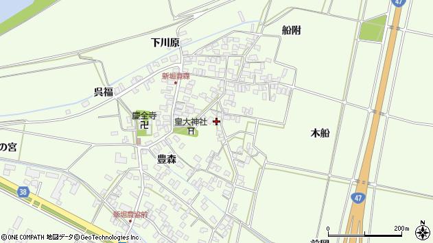 山形県酒田市新堀豊森129周辺の地図