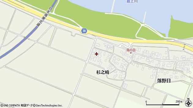 山形県酒田市落野目杉之崎164周辺の地図
