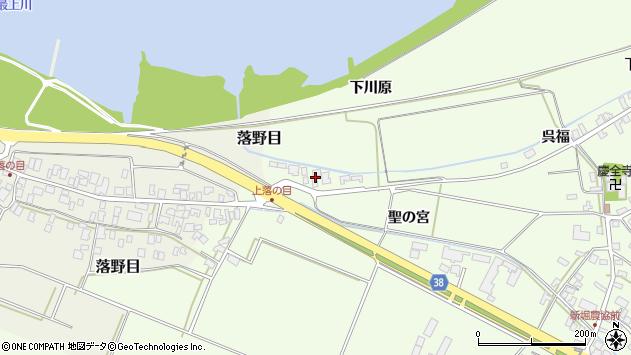 山形県酒田市新堀下川原周辺の地図