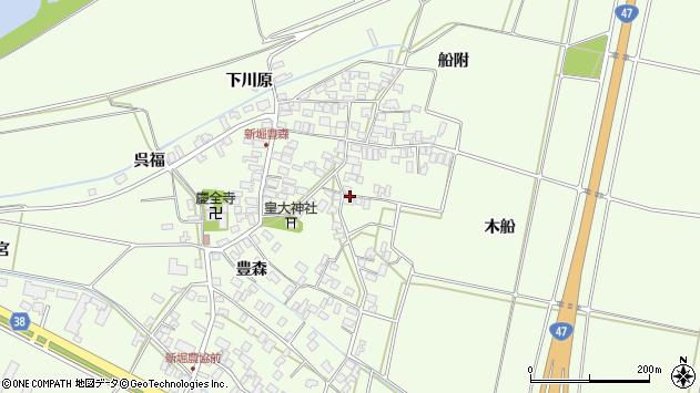 山形県酒田市新堀豊森135周辺の地図