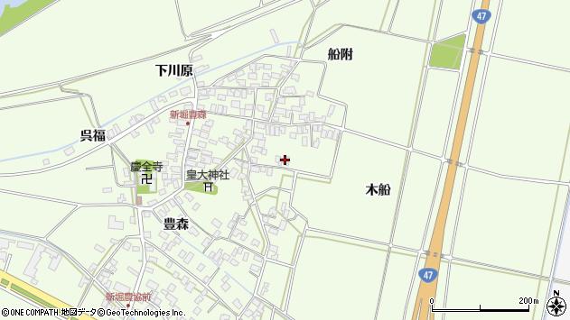 山形県酒田市新堀豊森132周辺の地図
