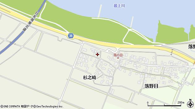 山形県酒田市落野目川前58周辺の地図