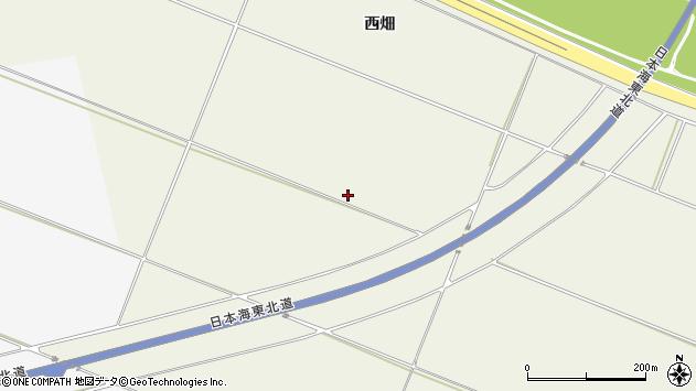 山形県酒田市落野目楯之畑周辺の地図