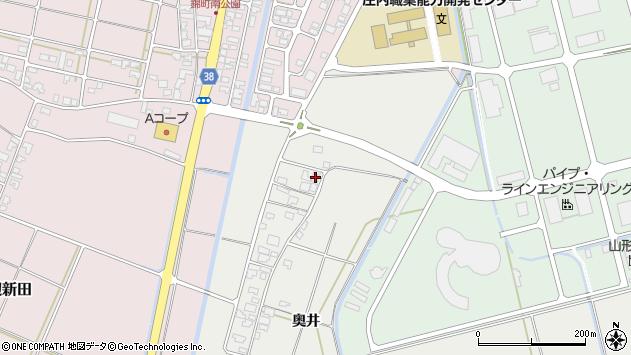 山形県酒田市広野奥井246周辺の地図