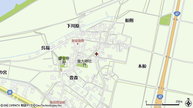 山形県酒田市新堀豊森133周辺の地図