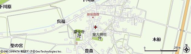 山形県酒田市新堀豊森83周辺の地図