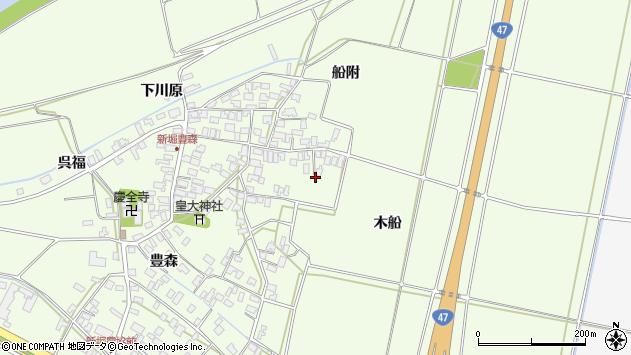 山形県酒田市新堀木船35周辺の地図