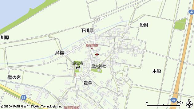 山形県酒田市新堀豊森84周辺の地図