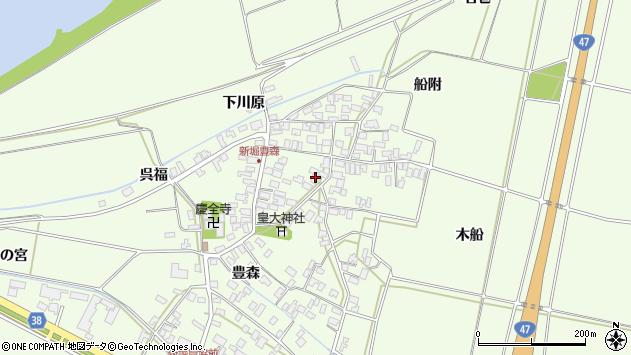 山形県酒田市新堀豊森109周辺の地図