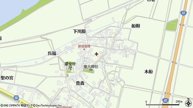 山形県酒田市新堀豊森110周辺の地図