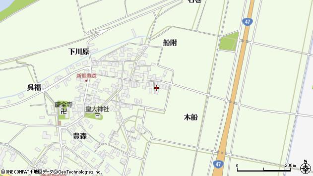 山形県酒田市新堀木船34周辺の地図