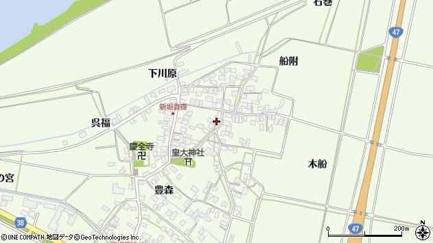 山形県酒田市新堀豊森106周辺の地図