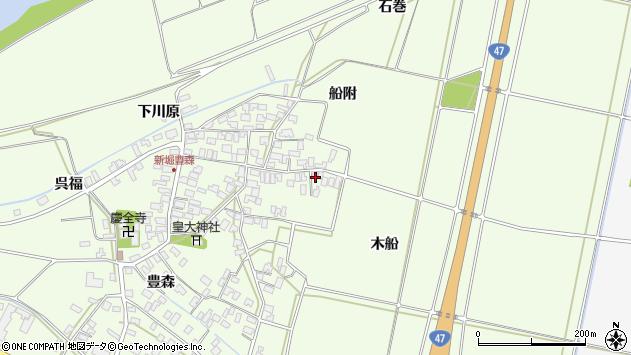 山形県酒田市新堀木船周辺の地図
