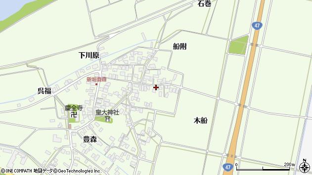 山形県酒田市新堀木船154周辺の地図